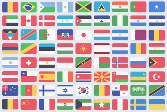 best 195 flat flag icons for free