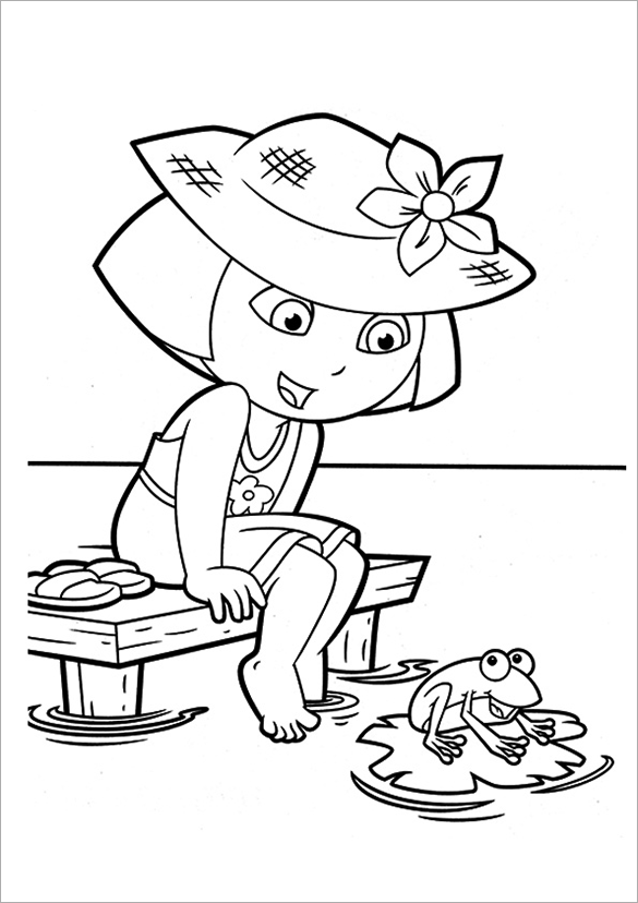 Astonishing Printable Free Dora Coloring Page