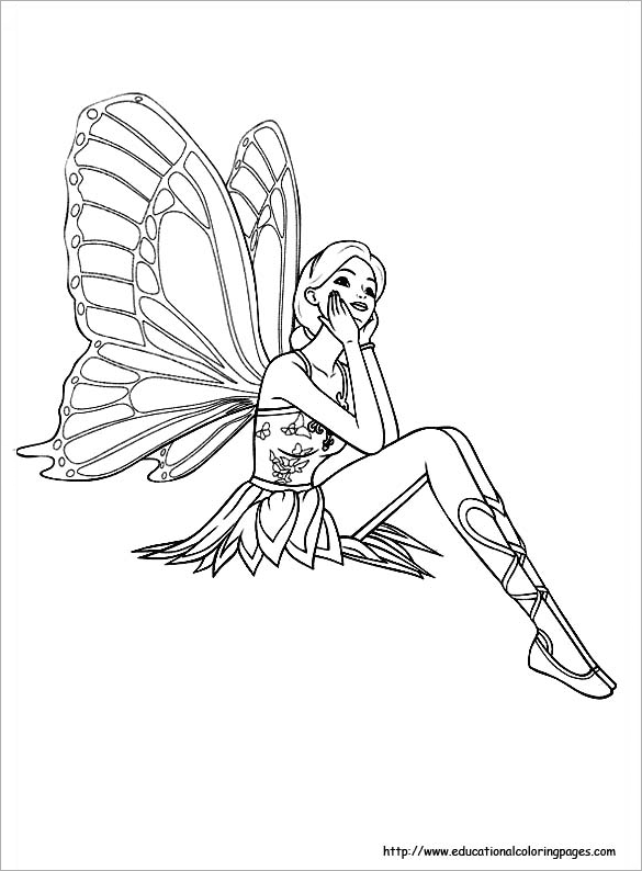 21 Fairy Coloring Pages DOC