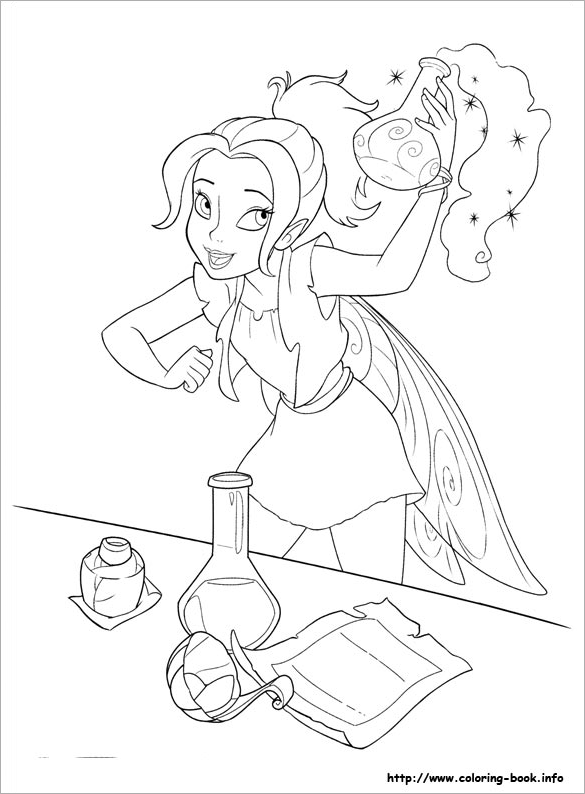 awesome free fairy coloring page