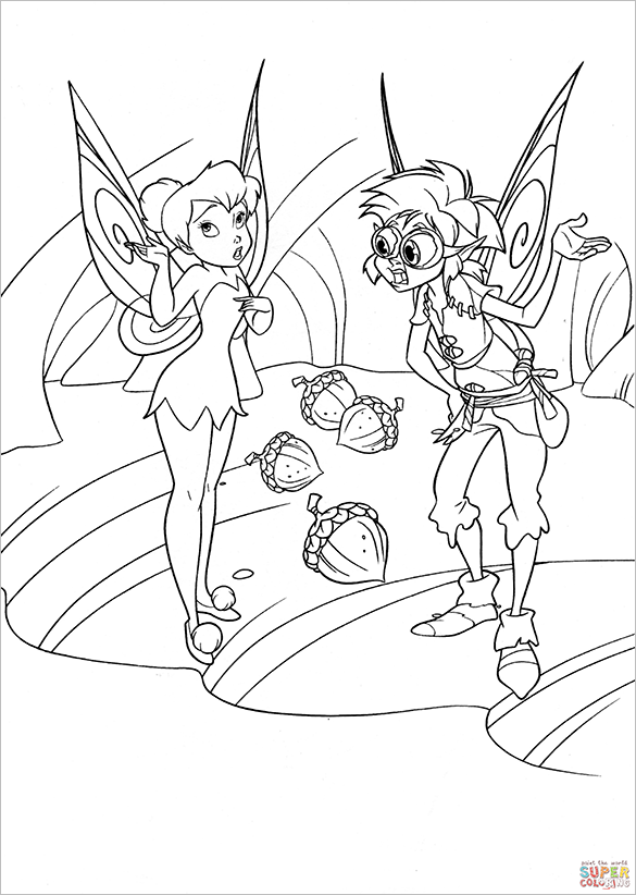 bobble fairy coloring page for free