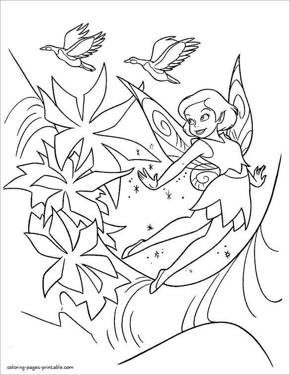 fantastic free printable fairy coloring page