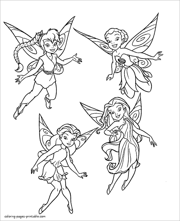 free printable coloring pages fairys - photo#22