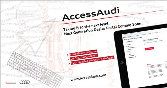 accessaudi oversized postcard photoshop