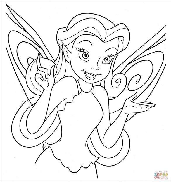 beautiful fairy rosetta coloring page