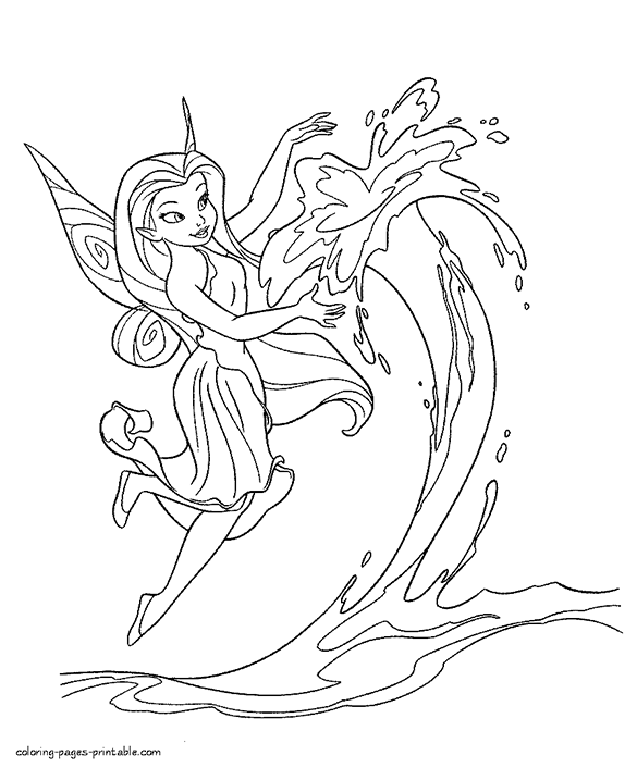 gorgeous free printable fairy coloring page for you