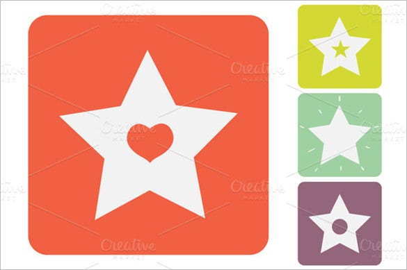 best star icon collection