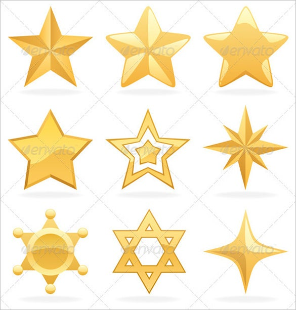 awesome golden star icons