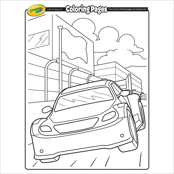 free printable car coloring page for free