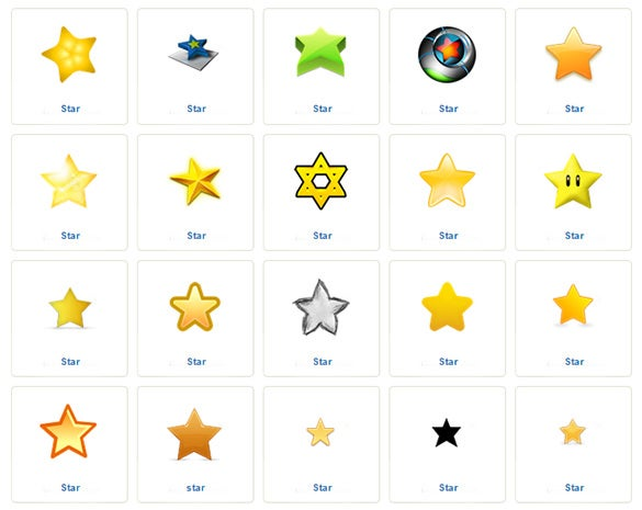 multiple star icons to download
