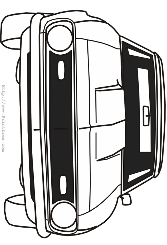 awesome car coloring free printable