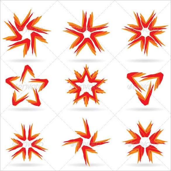 multiple star icons bundle for vector