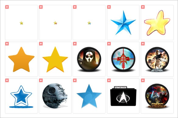 creative star icons to download