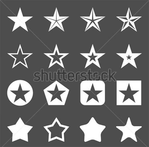 best white star icons for vector