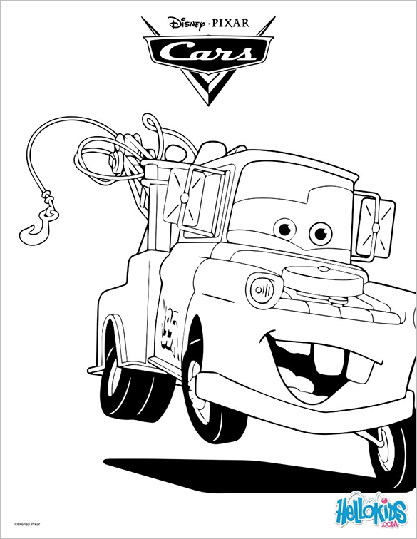 tow truck car printable coloring page