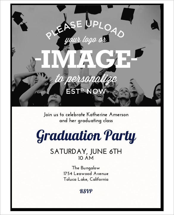 Invitation Template 37 Free Printable Word PDF PSD Publisher – Graduation Invite Templates Free