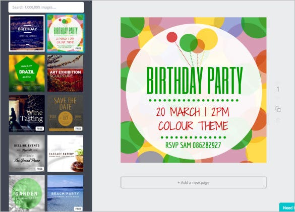 create the perfect birthday party invitation template