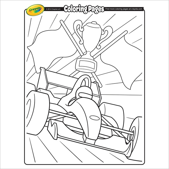 formula 1 race car coloring page for free
