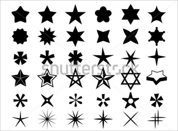 black and white star icons to download