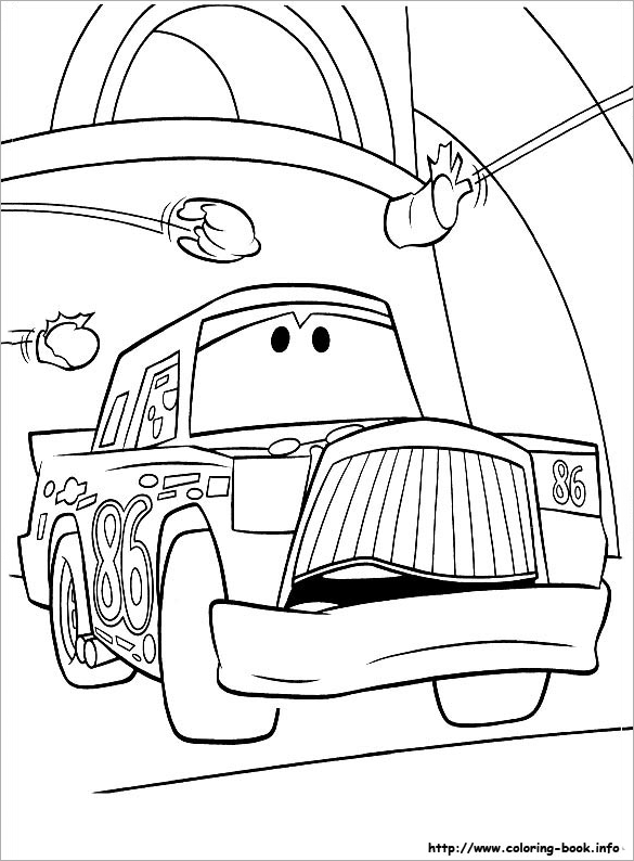 glorious free car coloring page for you