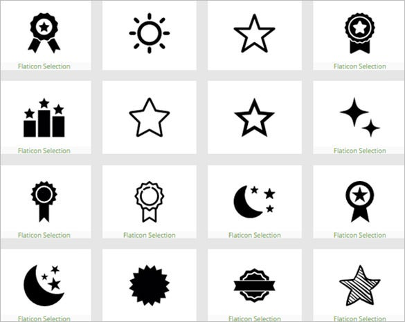 creative star icon collection to download