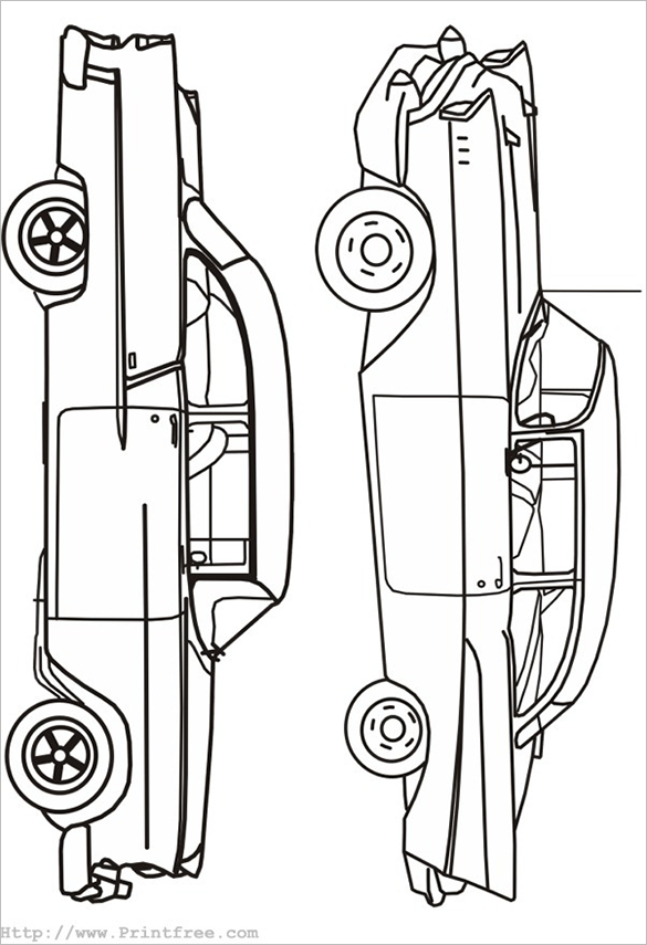 mindblowing free printable car coloring page