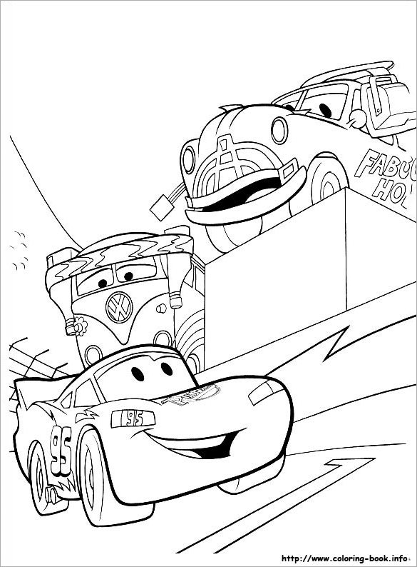 Wonderful Free Car Coloring Page For You Download