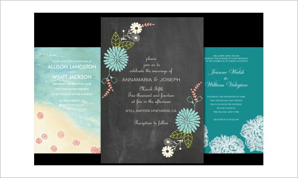 Beautiful Wedding Invitation Templates: 71+ Free Printable Word, PDF