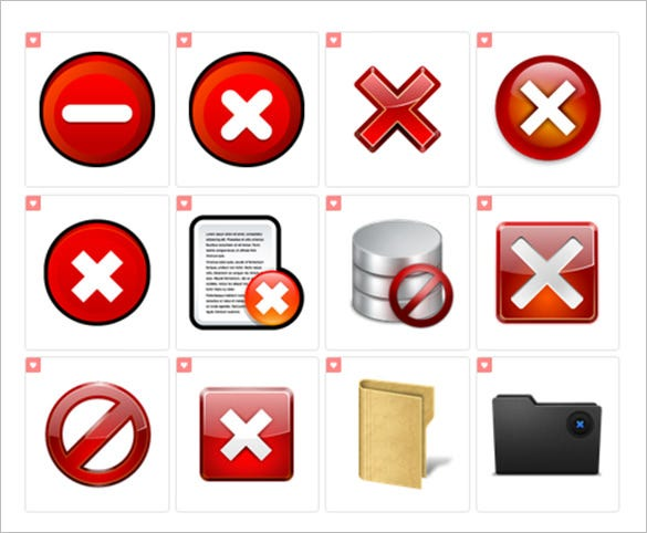 best delete icons collection
