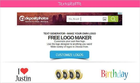 free textgiraffe online logo generator11