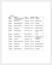 Extracurricular Activity Football Planner