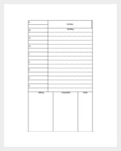Grand Student Daily Planner Template