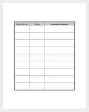 Students Daily Agenda Template