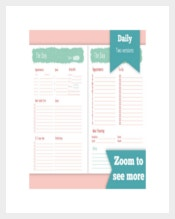 Printable Daily Sales Planner Template
