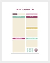 Printable Cute Daily Planner