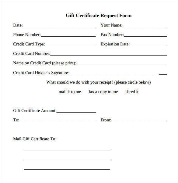 Doc484254 Fillable Gift Certificate Template Free Gift – Fillable Gift Certificate Template