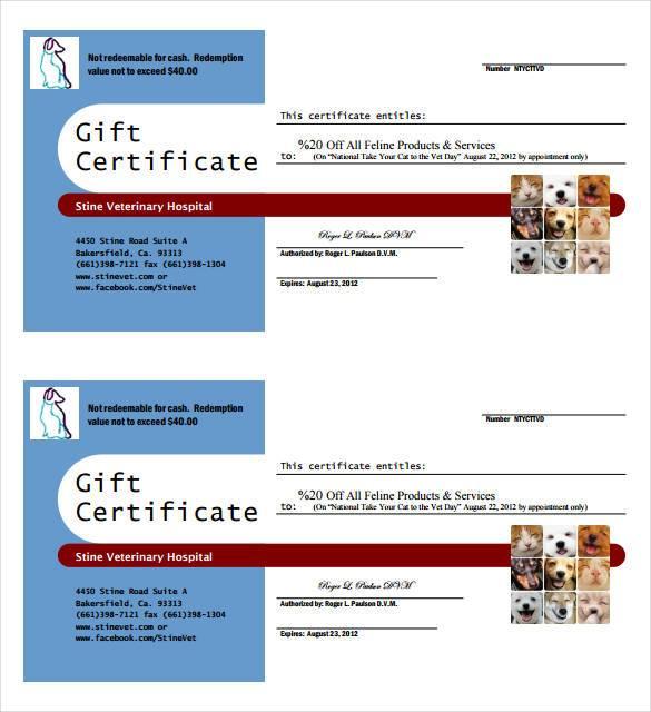 veterinary-gift-certificate-template