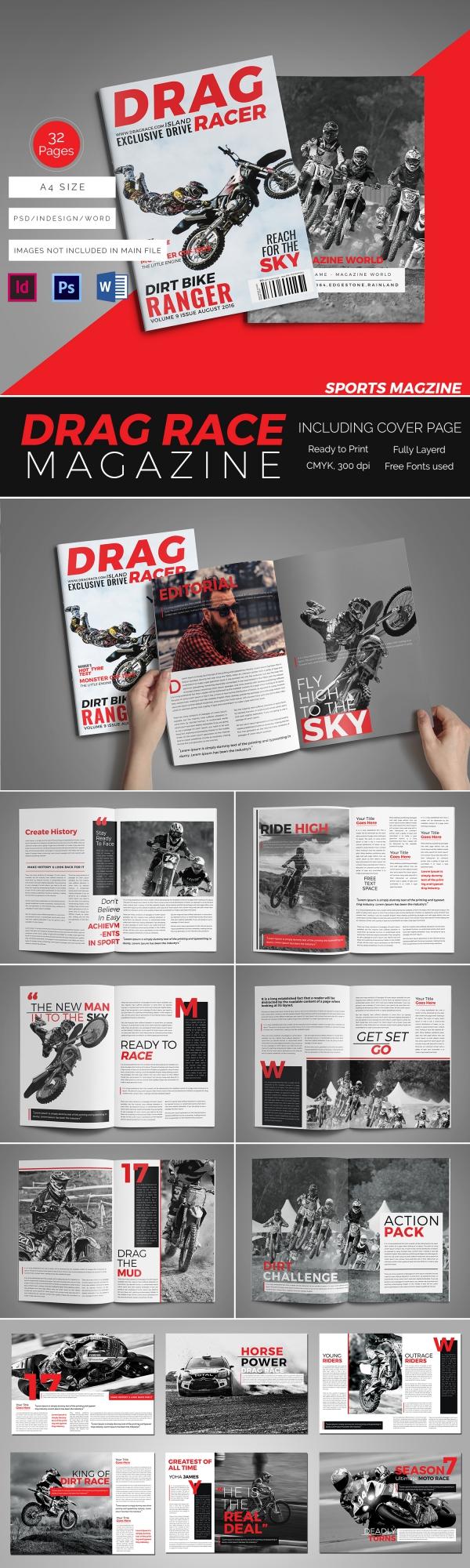 Sports Magazine Mockup