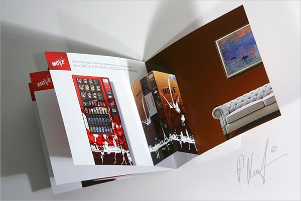 14  pop up brochures