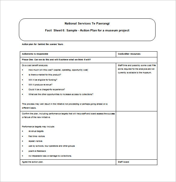 Project action plan template 10 free sample example for How to write a project plan template