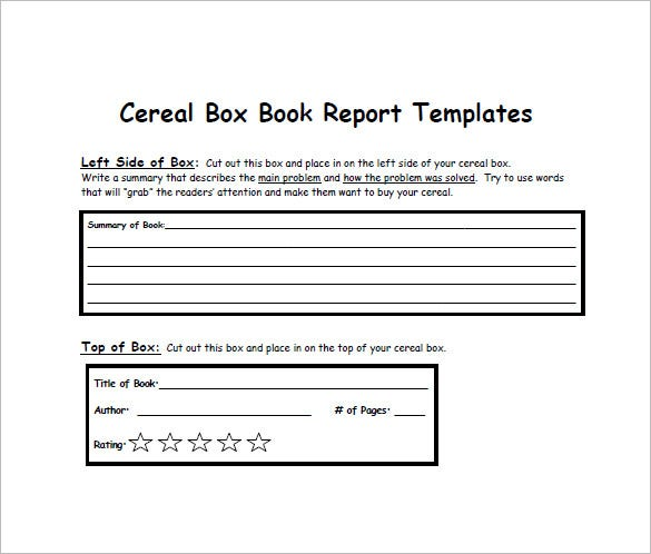 Cereal Box Template - 10+ Free Sample, Example, Format Download