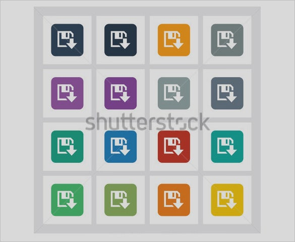 different ui save icons to download