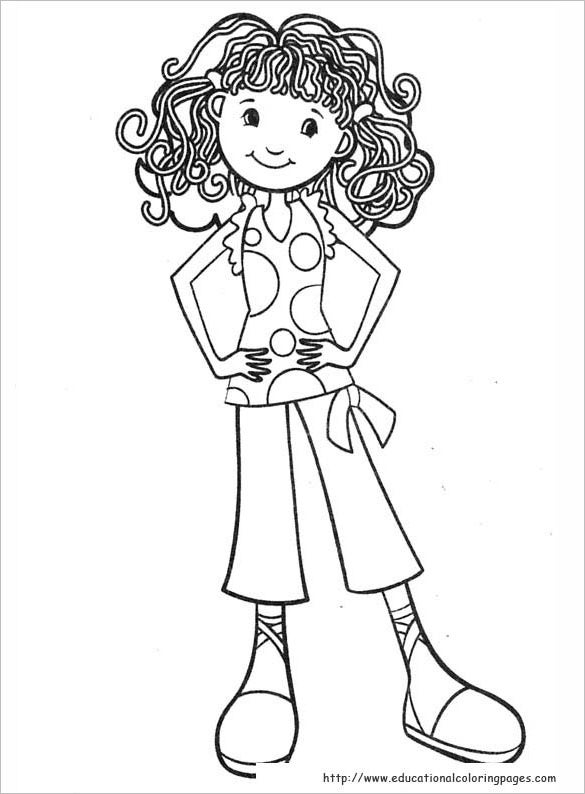 cool girl coloring pages - photo#28