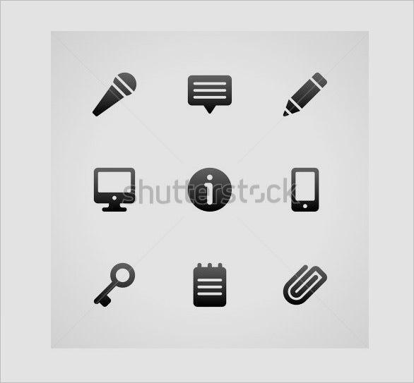 creative web site edit icons collection