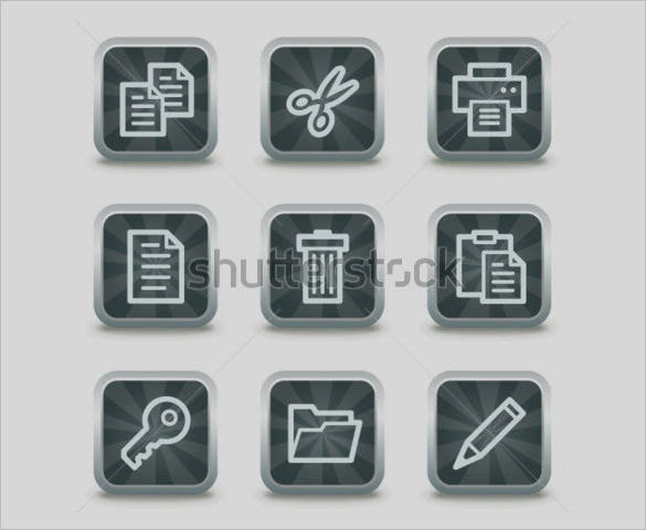 awesome document edit icons collection