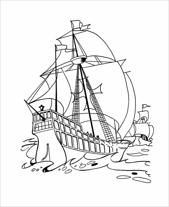 fabulous crayola ship coloring page