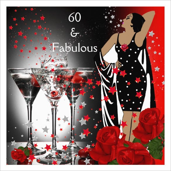 fabulous 60th birthday party invitaion download