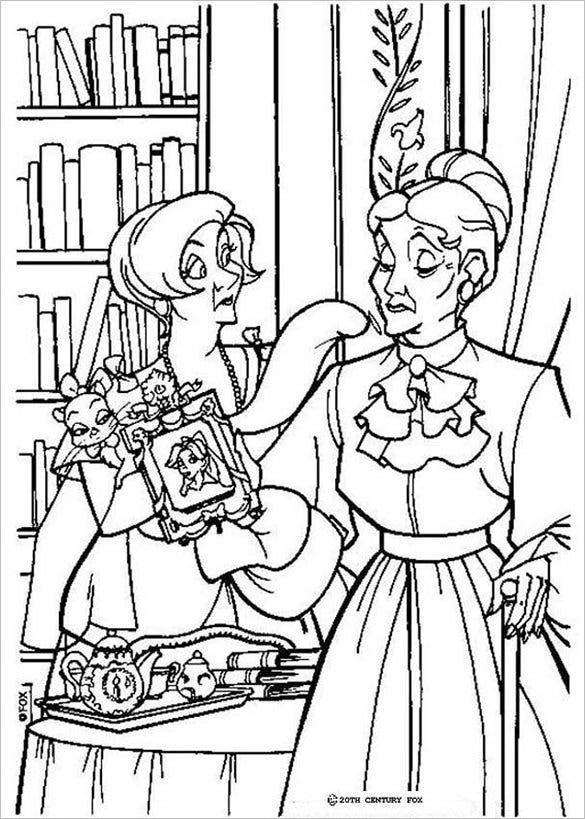 fantastic marie coloring page for you