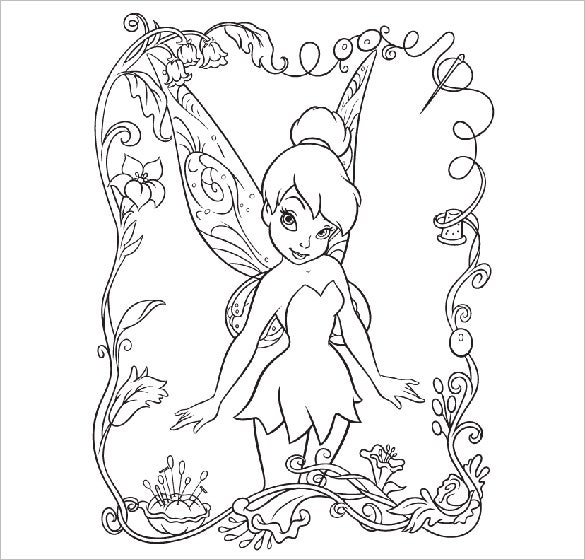 fairies tinkerbell coloring pages for free
