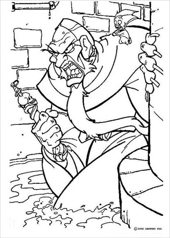 nasty rasputin coloring page